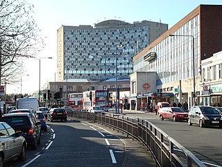 Morden district in the London Borough of Merton, England