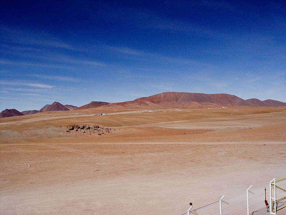Looking over to the ALMA site from APEX