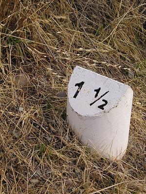 Los Gatos Creek Trail - Mileage marker on the trail