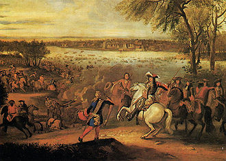 Rampjaar - Louis XIV of France at the Rhine.