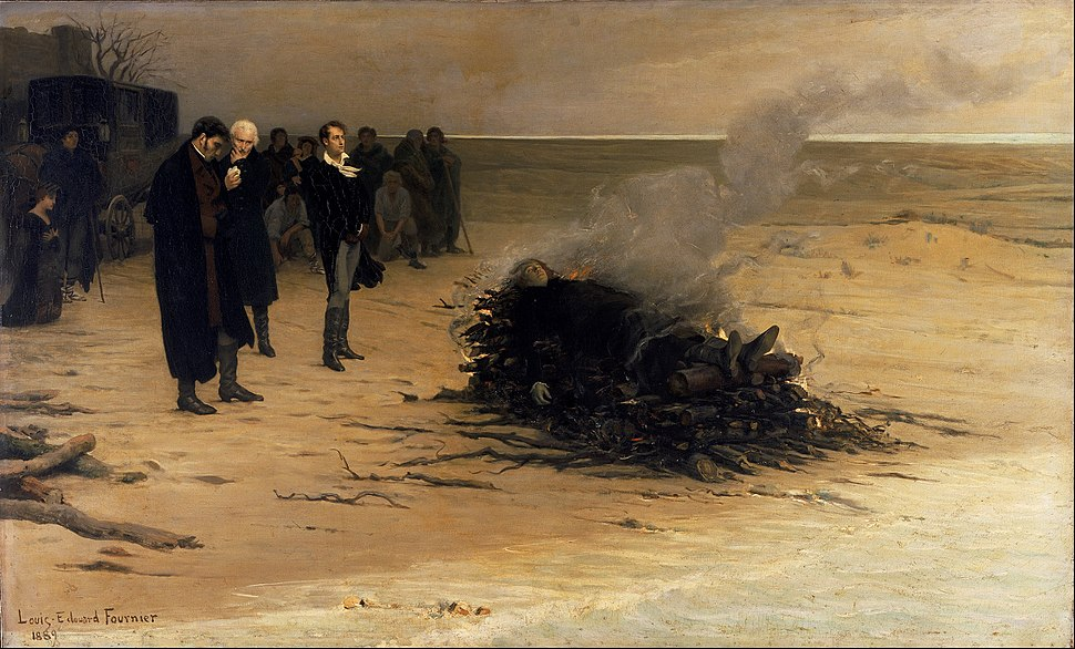 Louis Edouard Fournier - The Funeral of Shelley - Google Art Project