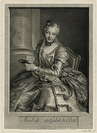Anne d'Arpajon - The Lady with the Mask, by Pierre Louis de Surugue (1746)
