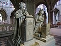 Louis XVI and Queen statues in Basilique Cathedrale de Saint Denis.jpg