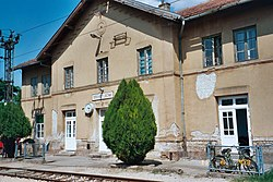 The train station in Lovćenac in 2003