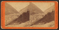 Lower Weber Canyon, looking west, Devil's Gate bridge in the foreground. Union Pacifc Railroad, from Robert N. Dennis collection of stereoscopic views.png