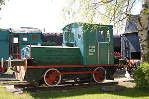 PKP class SM02 - Ls40-5438 locomotive in Kościerzyna Railroad Heritage Park