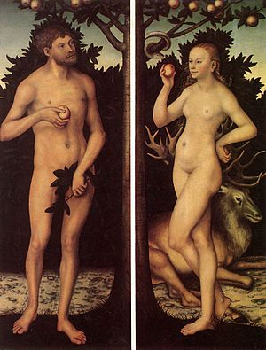 Lucas Cranach d. Ä. - Adam and Eve - WGA05624