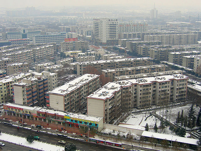 typical rows of apartment buildings in China, here in the city of Luoyang in Henan province