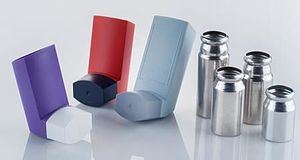 Metered-dose inhaler - Image: MDI components