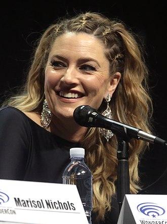 Mädchen Amick - Amick at WonderCon in 2017.