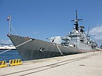 Maestrale class frigate Euro (F 575) - Harbour of Reggio Calabria - Italy - 8 July 2018 - (10).jpg