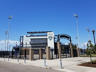 Maestri Field at Privateer Park baseball stadium in New Orleans, Louisiana