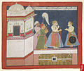 Maharana Amar Singh (r. 1697-1710) of Mewar and his son Sangram Singh (r. 1710-34), c1708.jpg