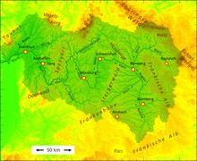 Main Fluss Karte.Main Wikipedia