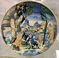 Maiolica di urbino, proserpina e le compagne, 1550-1580 ca.jpg