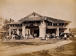 Penangite Chinese - Image: Malaysia; Chinese merchants and carriages outside their club Wellcome V0037511