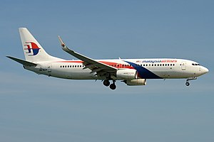 Malaysia Airlines, 9M-MLR, Boeing 737-8H6 (32719159297).jpg