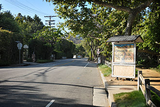 Mandeville Canyon, Los Angeles - Mandeville Canyon Road looking North from Westridge Road