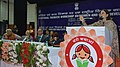 Maneka Sanjay Gandhi addressing at the two-day National Thematic Workshop on the 'Best Practices for Women and Child Development', at Panipat, in Haryana. The Chief Minister of Haryana.jpg