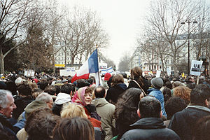Killing of Ilan Halimi - Paris demonstration in honor of Ilan Halimi and against antisemitism In 2006