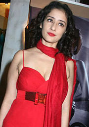 A photograph of Manisha Koirala attending Shahid Aamir's fashion show in 2008