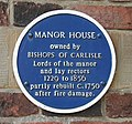 Manor House - blue plaque - geograph.org.uk - 381748.jpg