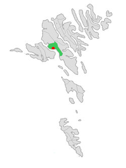 Location of Kvívíkar kommuna in the Faroe Islands