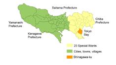 Location of Shinagawa