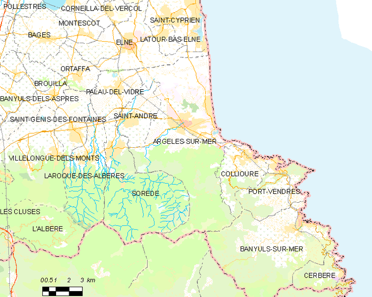 Payl:Map commune FR insee code 66008.png