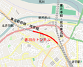 Map of Akabanedai tunnel ja.png