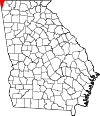 Map of Georgia highlighting Dade County.svg
