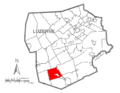 Map of Luzerne County, Pennsylvania Highlighting Sugarloaf Township.PNG