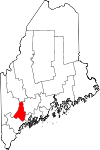 Map of Maine highlighting Androscoggin County.svg