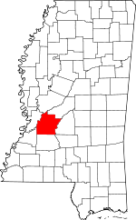 Map of Mississippi highlighting Hinds County.svg