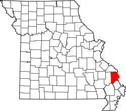 Map of Missouri highlighting Cape Girardeau County.svg