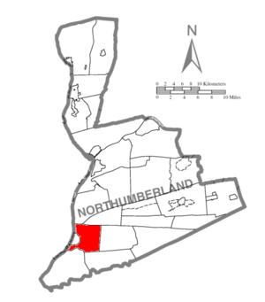 Jackson Township, Northumberland County, Pennsylvania - Image: Map of Northumberland County Pennsylvania Highlighting Jackson Township