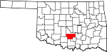 State map highlighting Garvin County