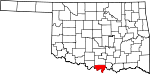 State map highlighting Love County