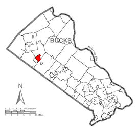Map of Perkasie, Bucks County, Pennsylvania Highlighted.png