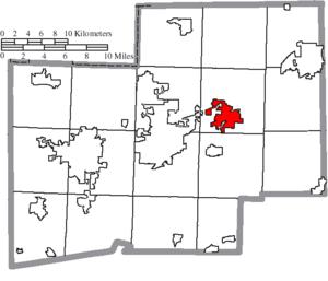 Louisville, Ohio - Image: Map of Stark County Ohio Highlighting Louisville City