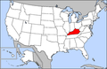 Map of USA highlighting Kentucky.png