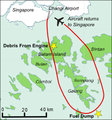 Map showing flight path of Qantas Flight 32 on 4 November 2010.png