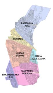 San Juan de Miraflores District in Lima, Peru
