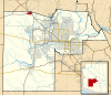 Maricopa County Incorporated and Planning areas Wickenburg highlighted.svg
