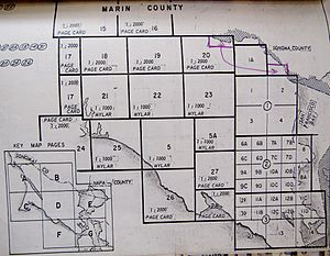 Thomas Guide - Marin County page alignment with various scales for street atlas