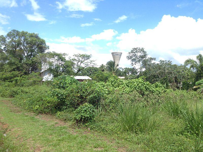 Vue du château d'eau de Maripasoula