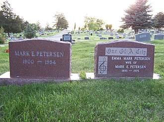 Mark E. Petersen - Image: Mark E Petersen Grave 2