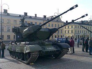 Marksman anti-aircraft system - Finnischer ItPsv-90-Flugabwehrpanzer