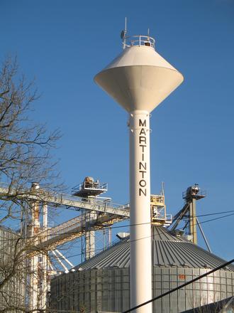 Martinton, Illinois - Martinton water tower