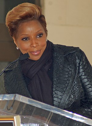 Mary J. Blige at a ceremony for Doug Morris to...